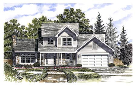 Country House Plan 94105 Elevation
