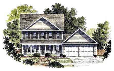 Colonial Country Southern House Plan 94107 Elevation