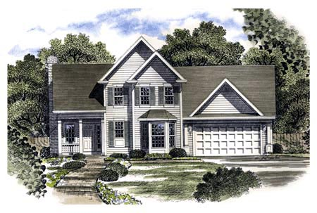Country House Plan 94108 Elevation
