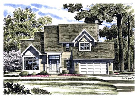 Country House Plan 94110 Elevation