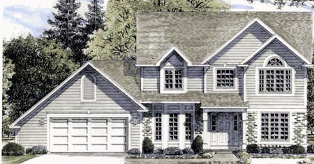 Country House Plan 94123 Elevation