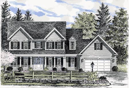 Colonial Southern House Plan 94136 Elevation