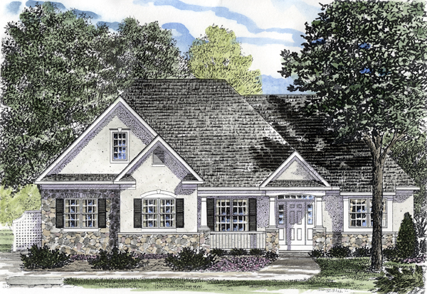 Ranch House Plan 94153 Elevation