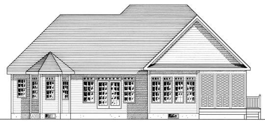 Ranch House Plan 94153 Rear Elevation