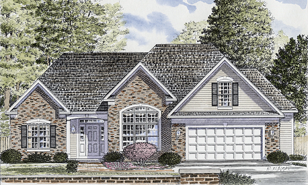 Ranch House Plan 94155 Elevation