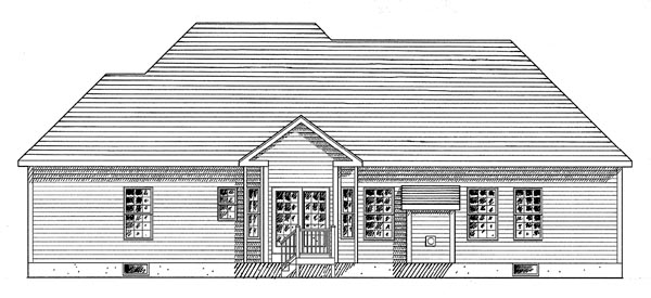 Ranch House Plan 94155 Rear Elevation