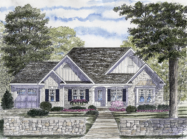 Ranch House Plan 94157 Elevation