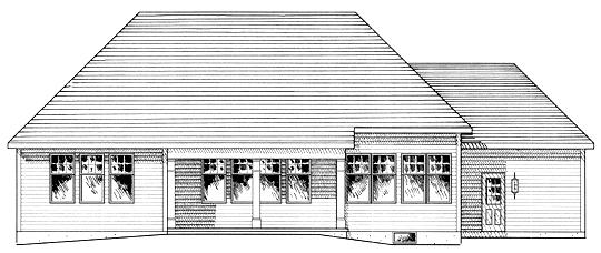 Ranch House Plan 94157 Rear Elevation