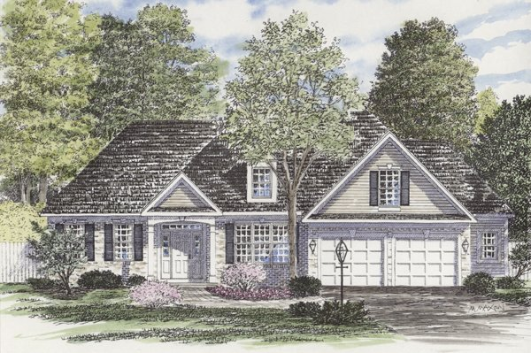 Ranch House Plan 94158 Elevation
