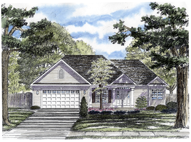 Ranch House Plan 94159 Elevation