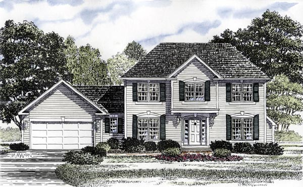 Colonial House Plan 94160 Elevation