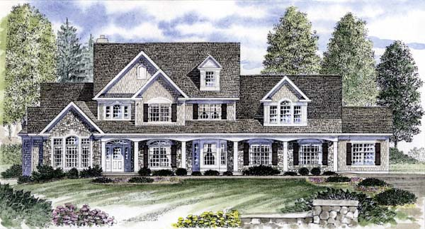 Country House Plan 94176 Elevation