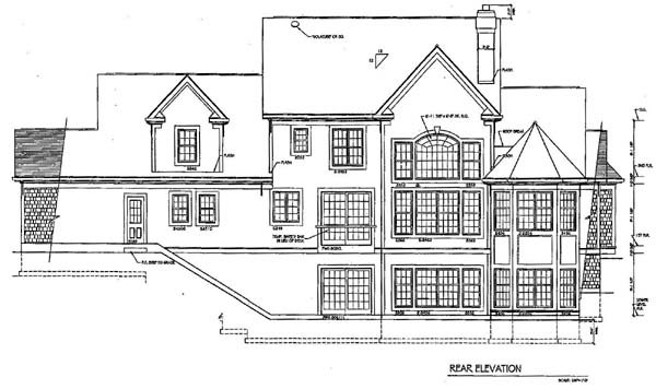 Country House Plan 94176 Rear Elevation