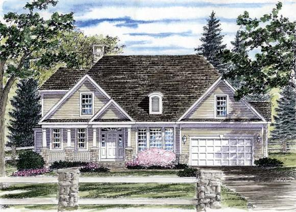 Country House Plan 94177 with 3 Beds, 3 Baths, 2 Car Garage Elevation
