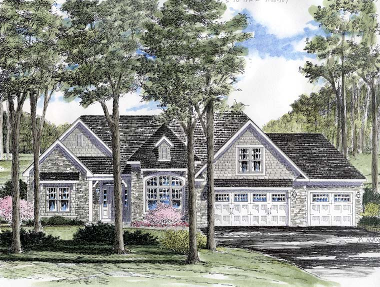 Cottage Ranch Traditional House Plan 94183 Elevation