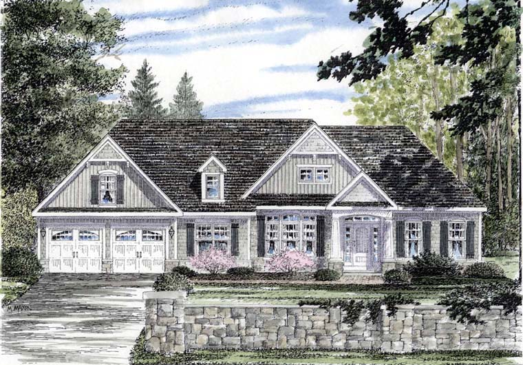 Cape Cod Cottage Country Ranch House Plan 94188 Elevation