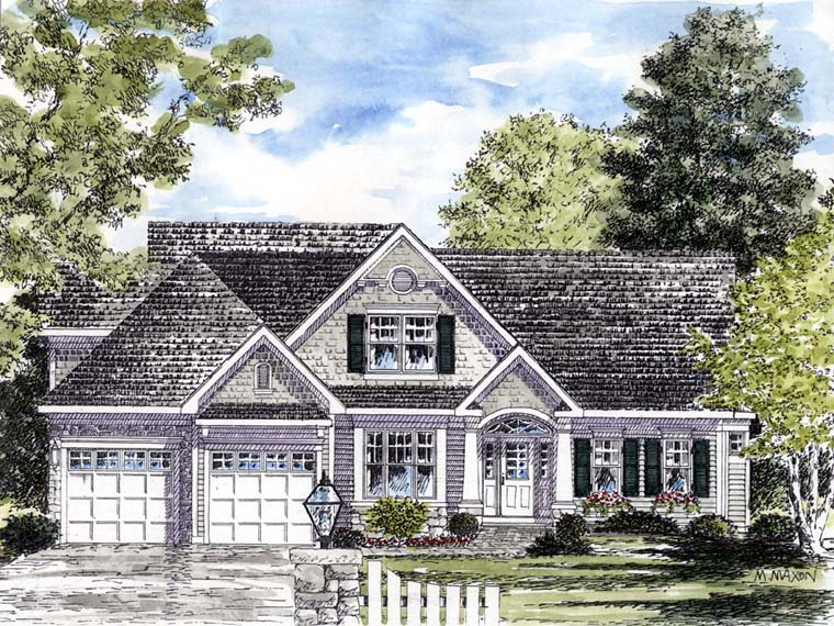 House plan 94194 at for Cape cod bungalow