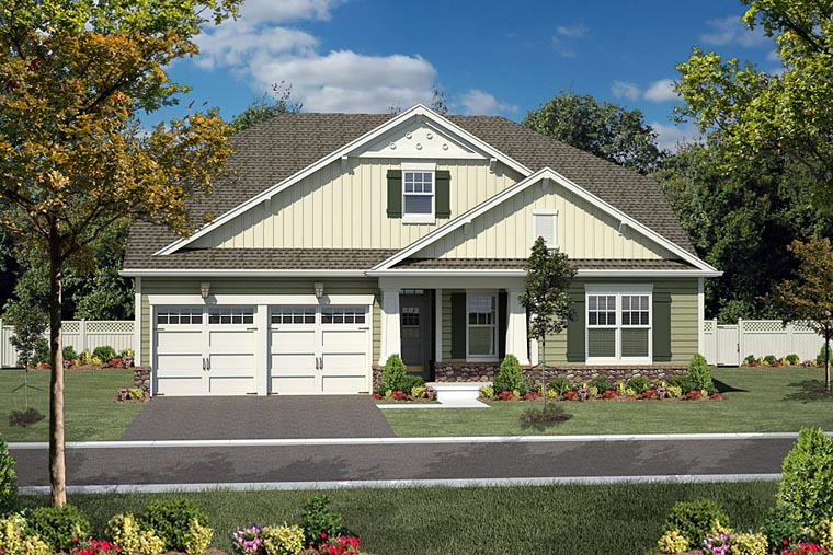 Bungalow Cottage Country House Plan 94195 Elevation