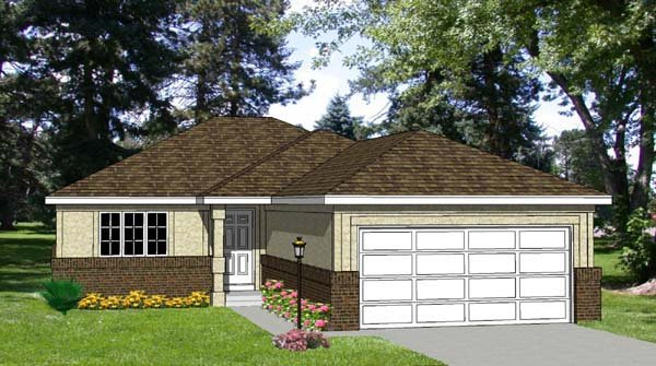 Traditional House Plan 94303 Elevation
