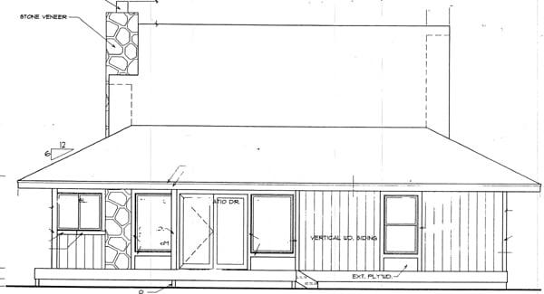 Cape Cod House Plan 94309 Rear Elevation