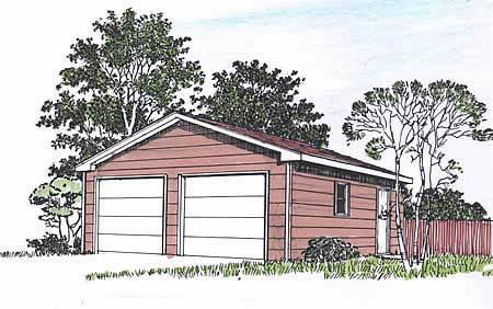 Garage Plan 94337 Elevation
