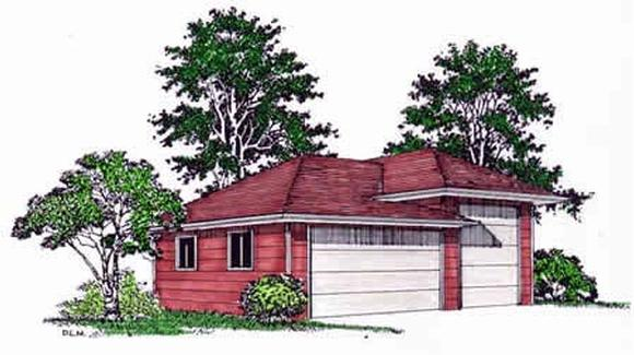 3 Car Garage Plan 94339, RV Storage Elevation