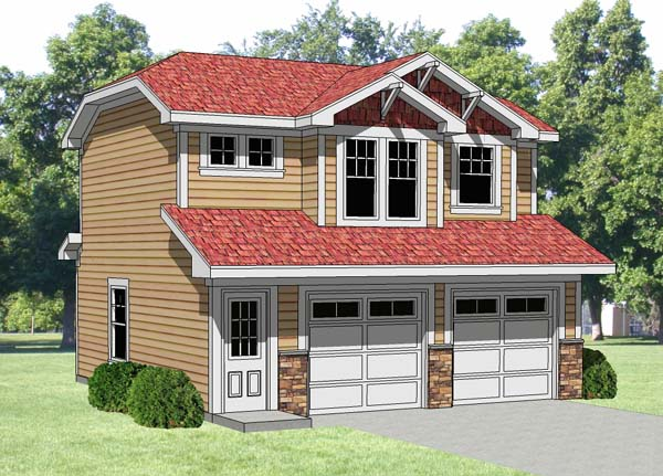 Elevation of Garage Plan 94340