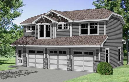 Garage-Living Plan 94341