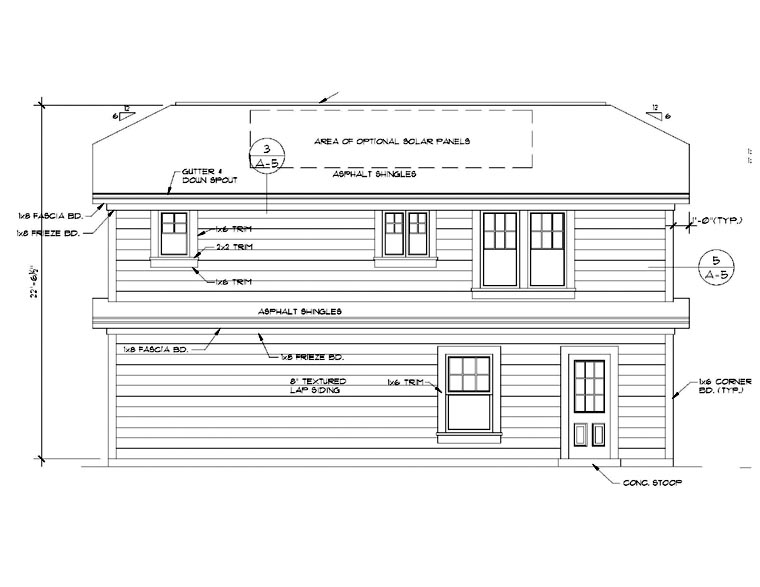 Garage Plan 94341 Rear Elevation