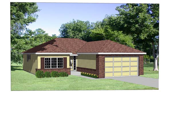 Traditional House Plan 94351 Elevation