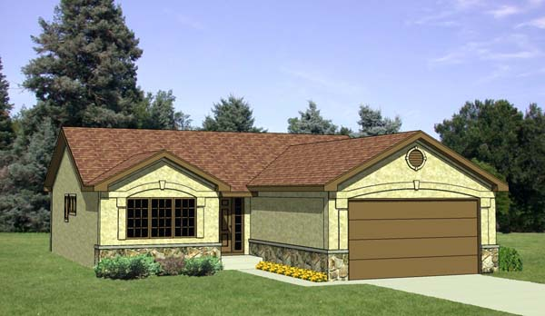 Ranch House Plan 94352 Elevation