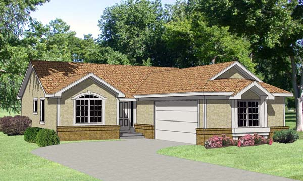 Ranch House Plan 94355 Elevation
