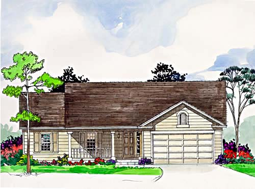 Ranch House Plan 94358 Elevation