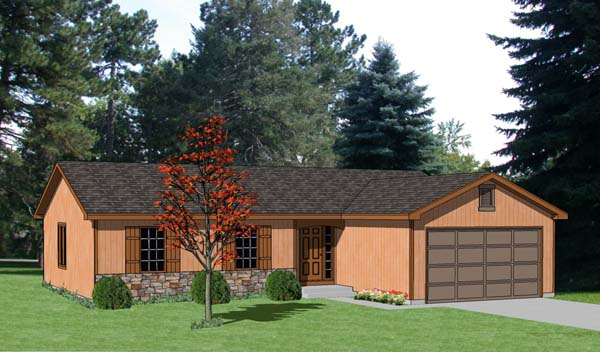 Ranch House Plan 94359 Elevation