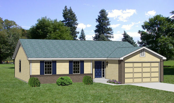 Ranch House Plan 94362 Elevation