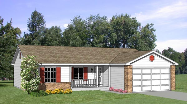 Ranch House Plan 94363 Elevation
