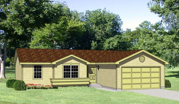 Ranch House Plan 94366 Elevation