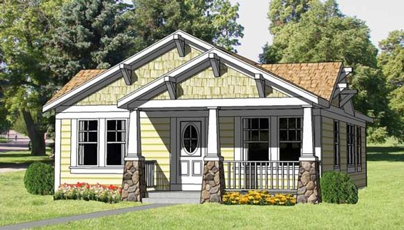 Cottage, Country, Craftsman House Plan 94371 with 3 Beds, 2 Baths Elevation