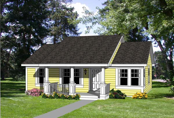 Country, Ranch House Plan 94372 with 3 Beds, 2 Baths Elevation