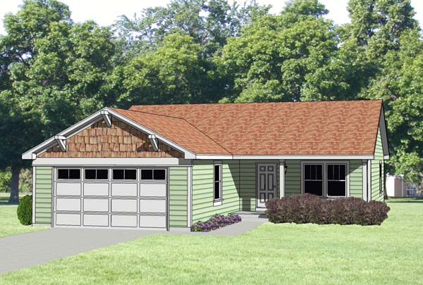 Ranch House Plan 94373 Elevation