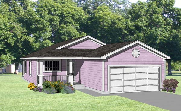 Ranch House Plan 94377 Elevation