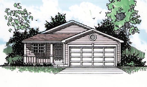 Country Ranch House Plan 94378 Elevation