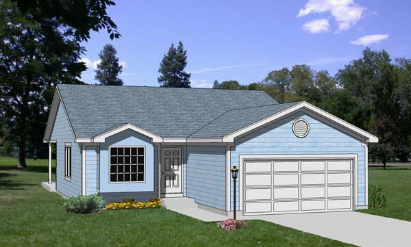 Ranch House Plan 94380 Elevation