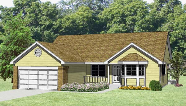 Ranch House Plan 94400 Elevation
