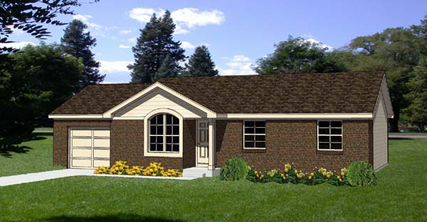Ranch House Plan 94405 Elevation