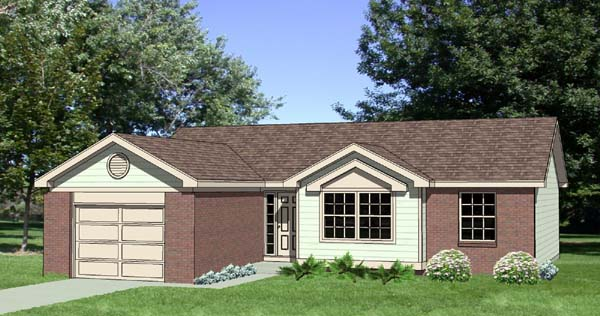 Ranch House Plan 94406 Elevation