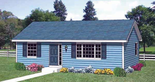 Ranch House Plan 94408 Elevation