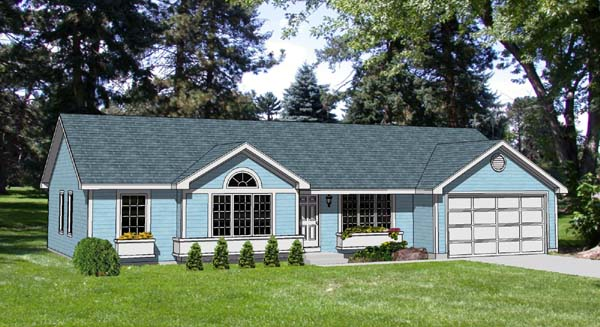 Ranch House Plan 94411 Elevation