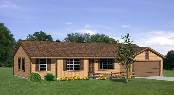 Ranch House Plan 94412 Elevation