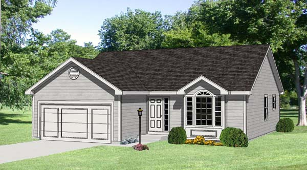 Ranch House Plan 94418 Elevation